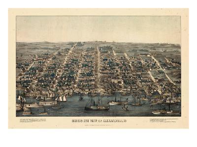 1863, Alexandria Bird's Eye View, Virginia, United States--Giclee Print