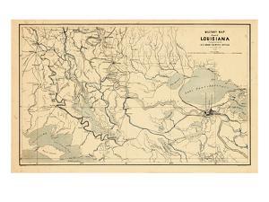 1863, New Orleans Louisiana Military Map, Louisiana, United States