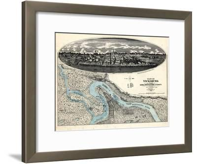 1863, Vicksburg Bird's Eye View, Mississippi, United States