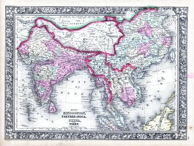 1864, Bangladesh, Cambodia, China, Laos, Malaysia, Nepal, Thailand, Vietnam, Asia, Hindoostan--Giclee Print