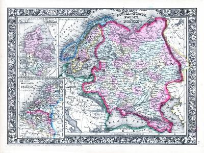 1864, Belgium, Denmark, Finland, Norway, Russia, Sweden, Europe, Russia in Europe, Sweden--Giclee Print