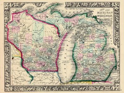 1864, Michigan and Wisconsin, United States--Giclee Print