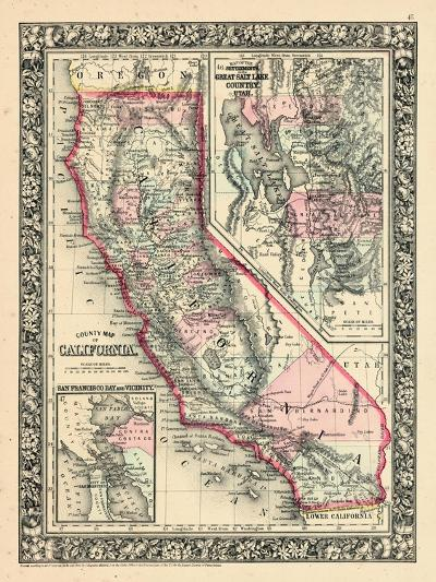 1864, United States, California, Utah, North America, California, Great Salt Lake Country--Giclee Print