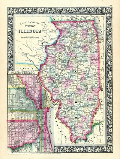 1864, United States, Illinois, North America, Illinois, Chicago--Giclee Print
