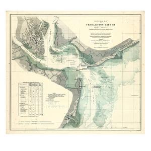 1865, Charleston Harbor Chart South Carolina, South Carolina, United States