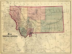 Beautiful Maps of Montana artwork for sale, Posters and Prints | Art.com
