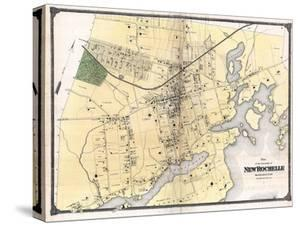 Beautiful maps artwork for sale posters and prints the new art 1867 new rochelle plan new york united states malvernweather Choice Image