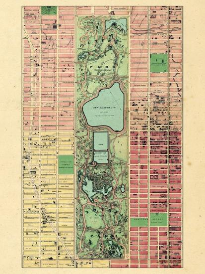 1867, New York City, Central Park Composite, New York, United States--Giclee Print