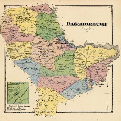 1868, Dagborough, Dagborough Town, Delaware, United States--Giclee Print