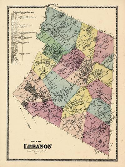 1868, Lebanon Town, Connecticut, United States--Giclee Print
