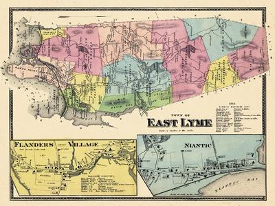 1868, Lyme East Town, Flander Village, Niantic, Connecticut, United States--Giclee Print