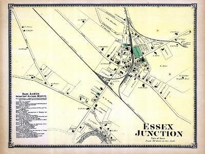 1869, Essex Junction Town, Vermont, United States--Giclee Print