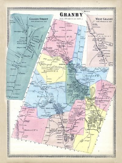 1869, Granby, West Granby Town, Connecticut, United States--Giclee Print
