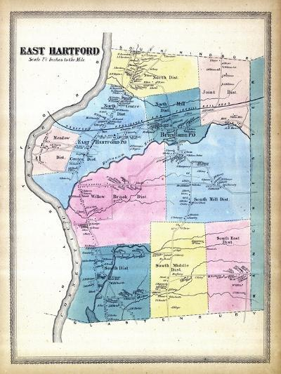 1869, Hartford East, Connecticut, United States--Giclee Print