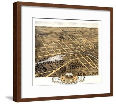 1869, Naperville Bird's Eye View, Illinois, United States