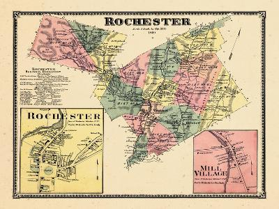1869, Rochester, Rochester Town, Mill Village, Vermont, United States--Giclee Print