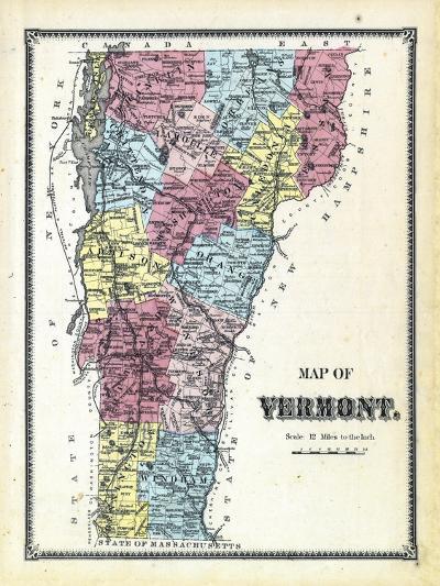 1869, Vermont Plan, Vermont, United States--Giclee Print