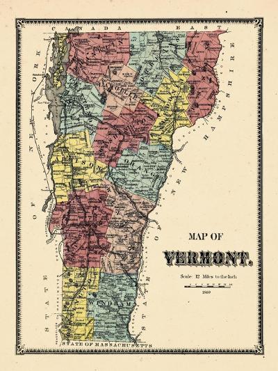 1869, Vermont, Vermont, United States--Giclee Print
