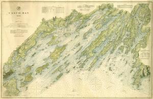 1870, Casco Bay Chart, Maine, Maine, United States