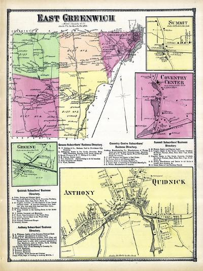 1870, Greenwich East, Sumit, Coventry Center, Greene Anthony, Quidnick, Rhode Island, United States--Giclee Print