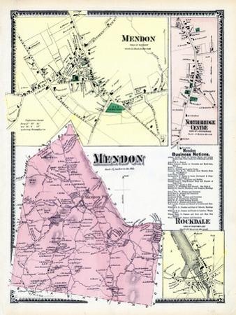 1870, Mendon, Mendon Town, Northbridge Center, Rockdale, Massachusetts, United States
