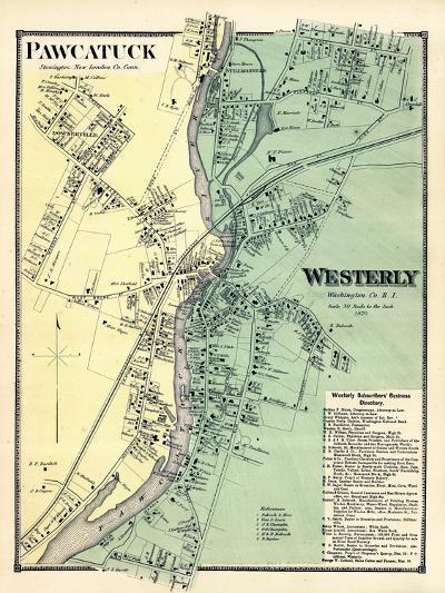 1870, Powcatuck, Westerly 2, Rhode Island, United States--Giclee Print