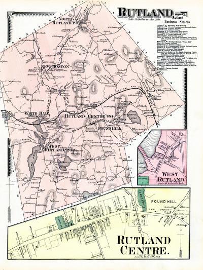 1870, Rutland, Rutland Center, Rutland West, West Rutland, Massachusetts, United States--Giclee Print