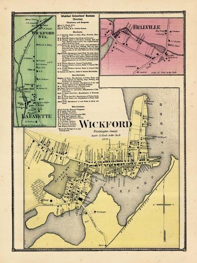 1870, Wickford, Wickford Station, LaFayette, Bellville, Rhode Island, United States--Giclee Print