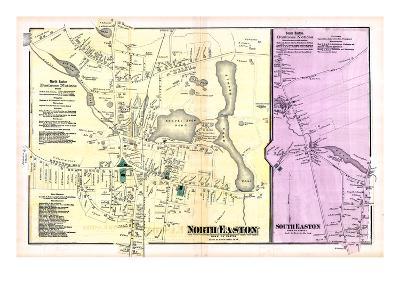 1871, Easton Town North, North Easton Town, South Easton Town, Massachusetts, United States--Giclee Print