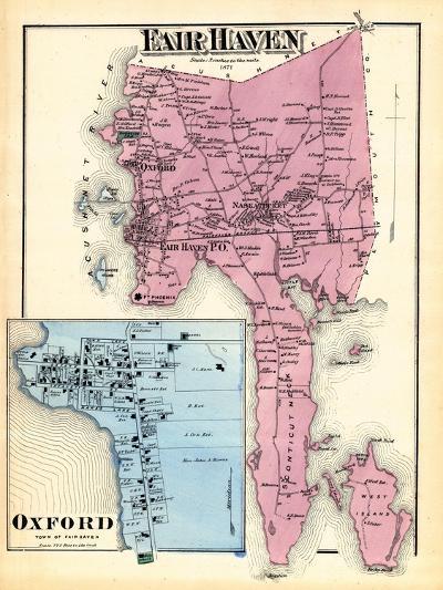 1871, Fair Haven, Oxford Town, Massachusetts, United States--Giclee Print