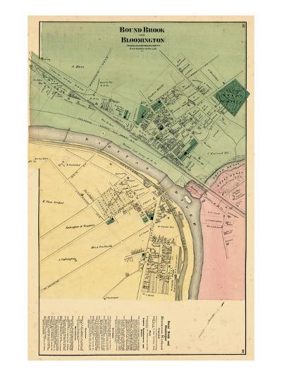 1873, Bound Brook and Bloomington, New Jersey, United States--Giclee Print