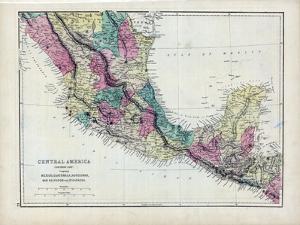 1873, Central America - Mexico, Guatemala, Honduras, San Salvador, Nicaragua