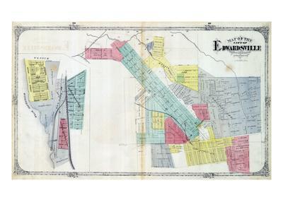 1873, Edwardsville, Mississippi River, Illinois, United States--Giclee Print