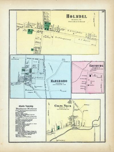 1873, Holmdel, Marlboro, Edinburg, Colts Neck, New Jersey, United States--Giclee Print