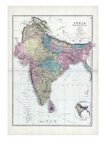 1873, India, Hindostan--Giclee Print