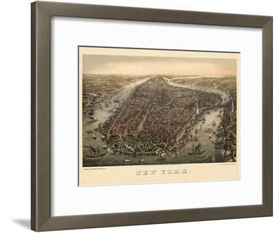 1873, New York City, 1873, Bird's Eye View, New York, United States