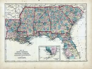 Beautiful Maps of South Carolina artwork for sale, Prints and ...