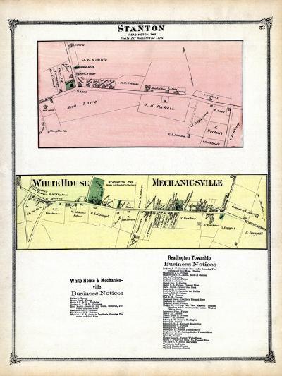1873, Stanton, White House, Mechanicsville, New Jersey, United States--Giclee Print