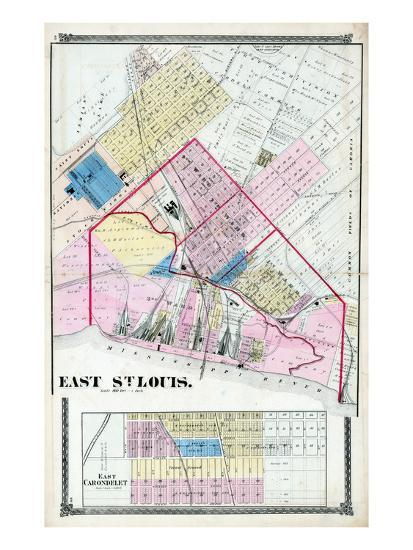 1874, East St. Louis, Illinois, United States Giclee Print by | Art.com