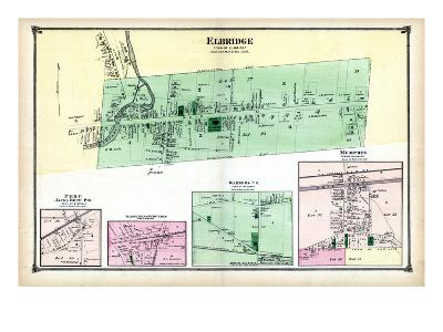 1874, Elbridge, Peru, Skaneateles Junction, Warners P.O., Memphis, New York, United States--Giclee Print