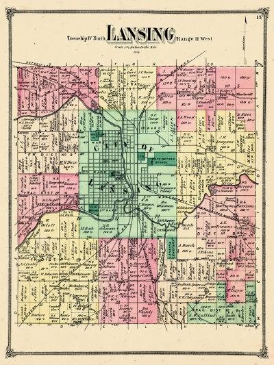 1874, Lansing Township, Lansing City, Michigan, United States--Giclee Print