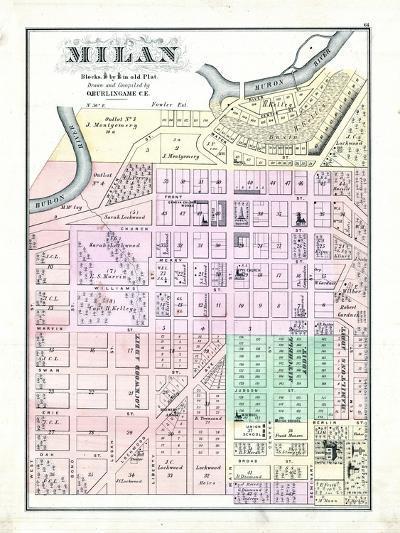 1874, Milan, Ohio, United States--Giclee Print