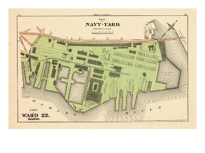 1875, Boston, Navy Yard, Charleston, Massachusetts, United States--Giclee Print
