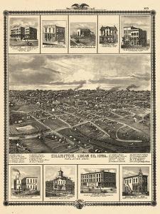 1875, Chariton Bird's Eye View, Iowa, United States
