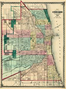 Beautiful Maps of Chicago, IL artwork for sale, Posters and Prints on