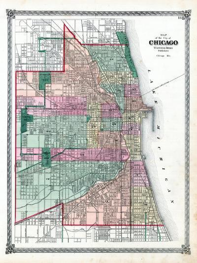 1876, Chicago City, Illinois, United States--Giclee Print