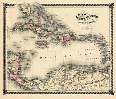 South Florida County Map.Beautiful Maps Of Florida Premium Giclee Prints Artwork For Sale