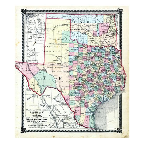1876, County Map of Texas and Indian Territory, Missouri, United States on united states diocese map, united states specialty map, united states colony map, united states map beer, united states university map, united states federal land map, united states valley map, united states national map, united states country map, united states farm map, united states block map, old united states map, color your own united states map, united states map 1861 civil war, united states sectional map, united states division map, united states region map, united states map wisconsin counties, united states map with indian reservations,