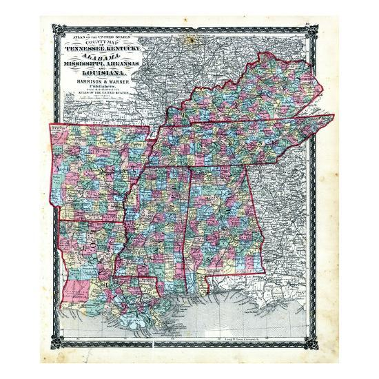 1876, County Map Tennessee, Kentucky, Alabana, Mississippi, Arkansas on map of new york, map of pennsylvania, map of alabama, map of oregon, map ohio kentucky, map of idaho, map of florida, map of nashville tn, map of mississippi, map of oklahoma arkansas, map of ohio, map of louisiana, map of north carolina, map of montana, map of virginia, map of south carolina, map of washington state, map of georgia, map virginia kentucky, map of texas,