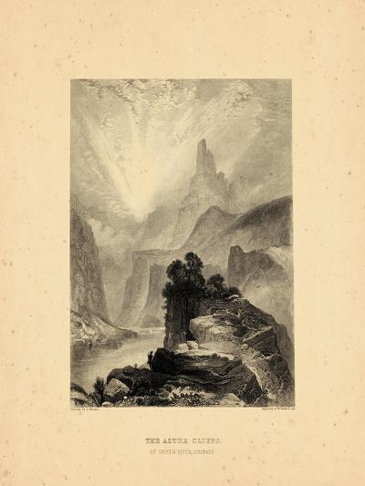 1876, Green River View of the Azure Cliffs, Colorado, United States--Giclee Print